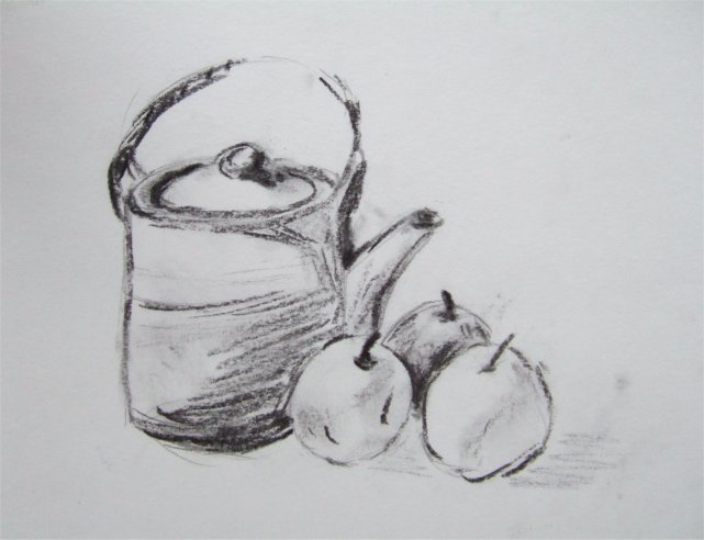 Comment dessiner une nature morte au fusain - Dessin nature morte ...