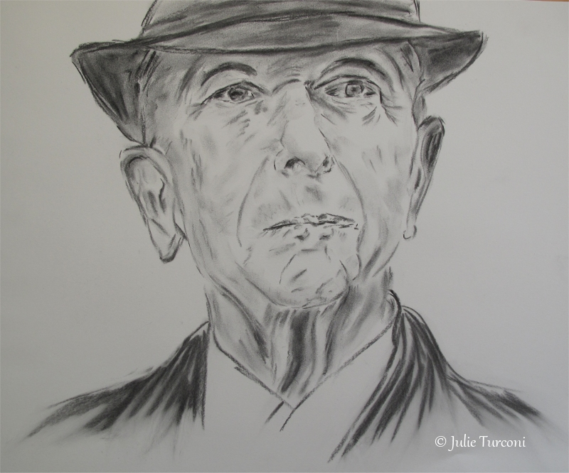 Hallelujah (hommage à Leonard Cohen), 14 x 17 po, 2016, DISPONIBLE